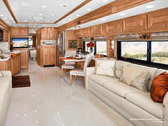 2011 tiffin phaeton class a motorhome roaming times for Interior motorhome designs