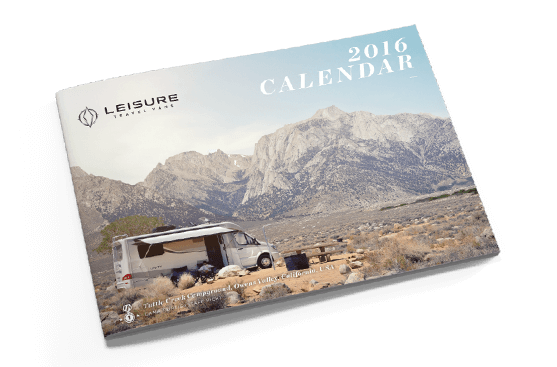 Order our Leisure Travel Vans 2016 Photo Calendar today (while supplies last).