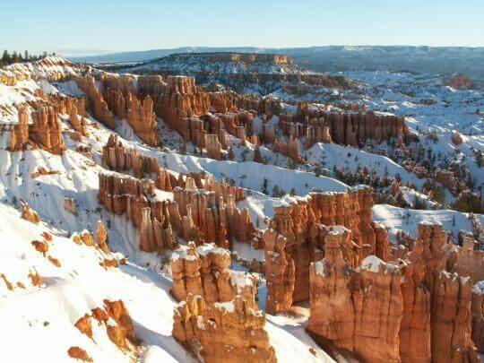 Bryce Canyon dressed up in snow