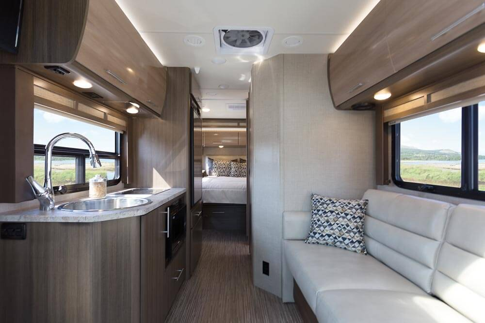 Gemini Tr Cool Jazz Glazed Pecan Front To Back on motorhome luxury motor coach
