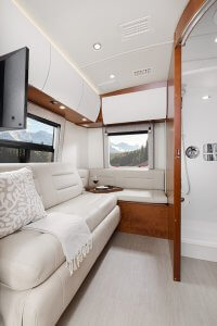 2017 Serenity Leisure Travel Van Class B Sleeping Area
