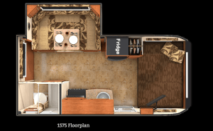 Lance 1575 Travel Trailer Floorplan
