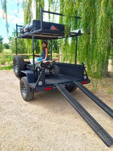 UGOAT 2-Level Ramp with ATV Travel Trailer