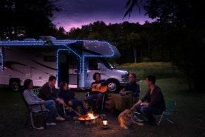 Rental RV Campfire party lights
