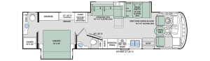 2017 Thor Hurricane 35M Floorplan