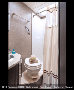 2017 Thor Compass 23TB Bathroom Toilet and Shower