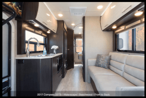 2017 Thor Compass 23TB Galley and Sofa