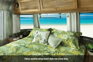 2017 Airstream Tommy Bahama Travel Trailer Interior view