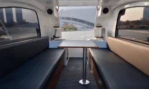 Land & Sea Amphibious RV Interior Table View