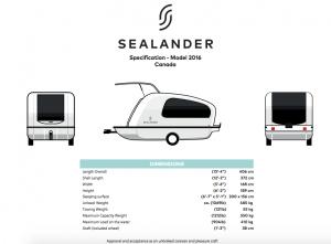 Sealander Specs