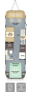 2016 And 2017 Airstream Classic 30 Floorplan