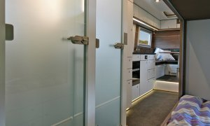 Action Mobil Globecruiser 7500 Hallway Kitchen View