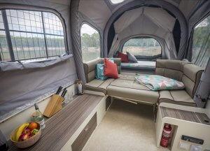 Inflating Opus Camper Interior