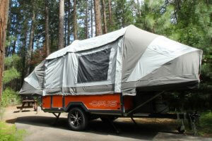 Opus Air Camper Poleless Inflated Travel Trailer