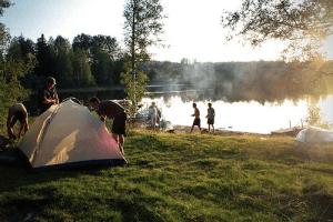 Tent Camping Near Lake