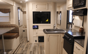 Winnebago 2017 Minnie 2500FL Galley and Dinette