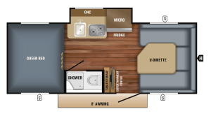 2018 Jayco Hummingbird 17FD Floorplan