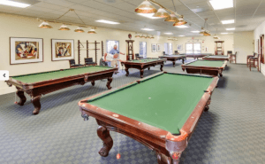 Golden Village Palms RV Resort Billiard Room