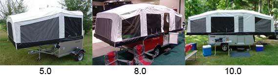 Quicksilver tent camper by Livin' Lite - 3 models - exteriors