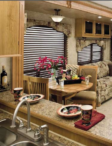Cedar Creek Cottage destination trailer interior - Model 40CFL
