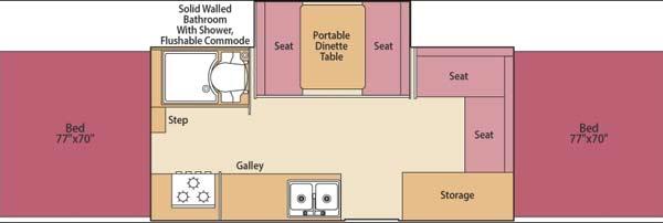 Coleman Highlander Series camping trailer floorplan - Niagra
