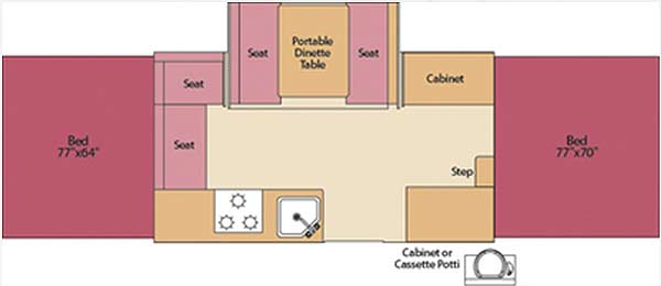 Coleman Highlander Saratoga floorplan