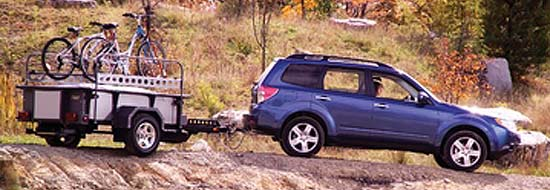 Coleman Switchback camping trailer exterior - being towed