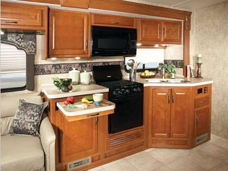 Fleetwood Bounder class A gas motorhome kitchen