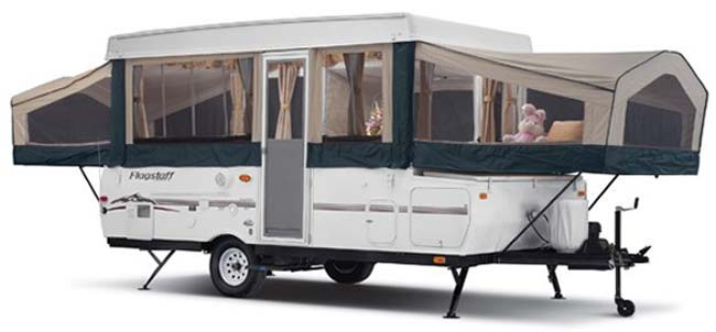 Forest River Flagstaff tent camper Classic Series exterior open