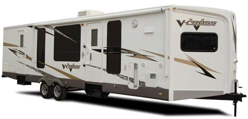 Forest River V-Cross travel trailer exterior
