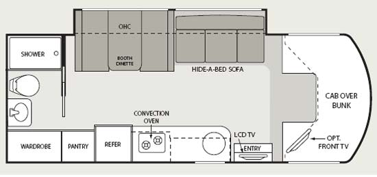 Four Winds Chateau Citation Sprinter Class C Motorhome Floorplan 24SB