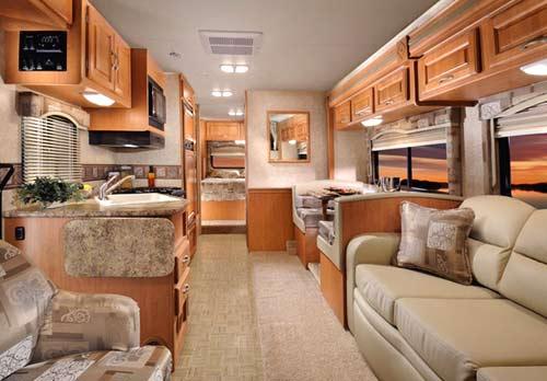 Four Winds class C motorhome interior - main living area