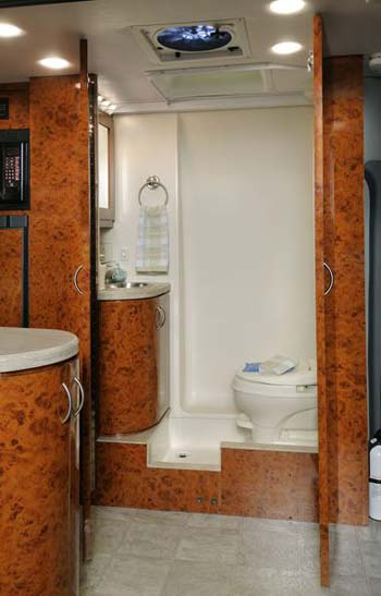 Four Winds Ventura class B motorhome bathroom