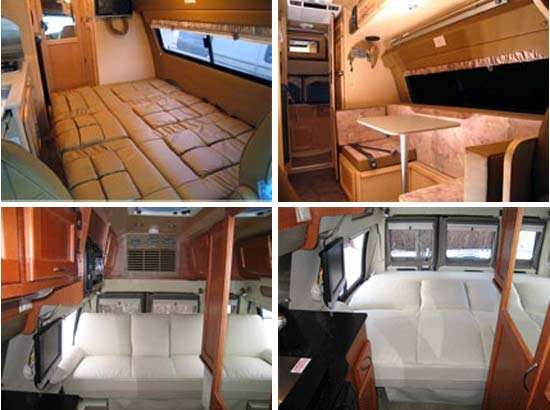 Great West Vans Classic Class B Motorhome Interior Views