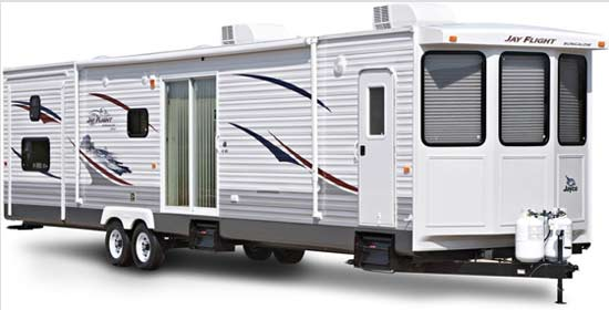 Jayco Jay Flight Bungalow destination trailer exterior