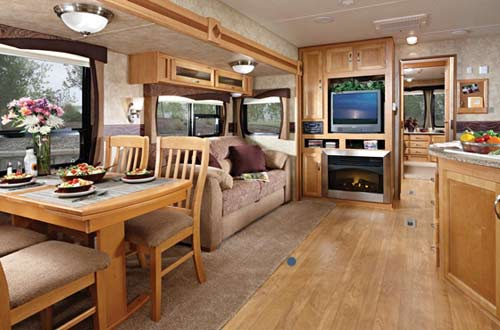 Jayco Jay Flight Bungalow destination trailer interior