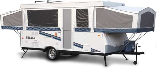 Jayco Select camping trailer exterior view
