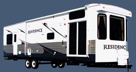 Keystone Residence destination trailer exterior