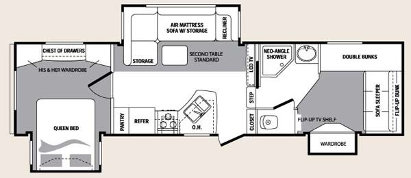 2 bedroom fifth wheel floor plans floor matttroy glendale titanium fifth wheel 3 bedroom 3 bedroom fifth wheel for sale