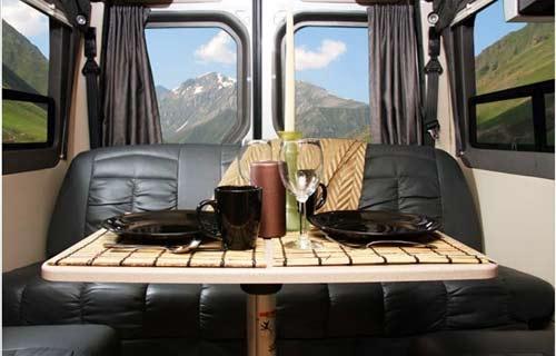Leisure Travel Vans Free Spirit class B motorhome interior rear