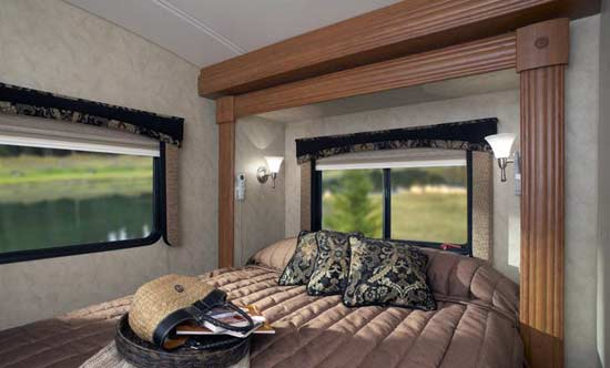 Monaco Montclair class B+ motorhome interior 293TS bedroom