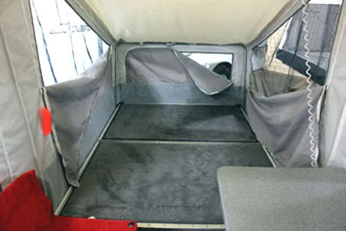 Quicksilver 2.0 Motorcycle/ATV Camper interior 1
