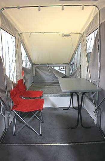 Quicksilver 2.0 Motorcycle/ATV Camper interior 2