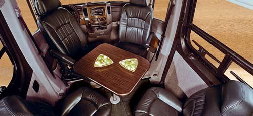 Winnebago ERA class B motorhome interior - front