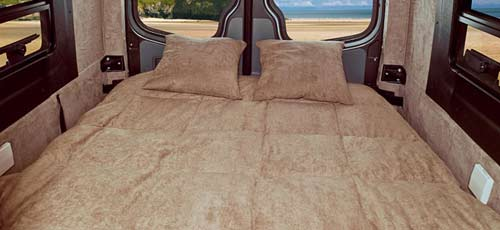 Winnebago ERA class B motorhome sofa - open to bed