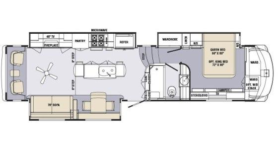 Holiday rambler presidential floor plans floor matttroy for Rv suites floor plan