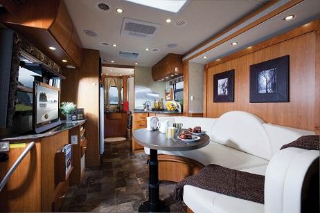Leisure Travel Vans Unity class B motorhome interior - U-lounge