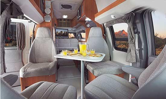 Roadtrek 190-Simplicity class B motorhome - interior - front arrangement