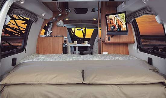 Roadtrek 190-Simplicity class B motorhome - interior - bed arrangement
