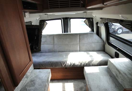 Roadtrek 190-Simplicity class B motorhome - interior - day arrangement